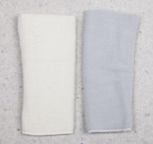 Leg, arm warmer white, grey