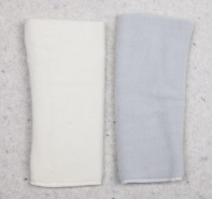 Leg, arm warmer white, grey